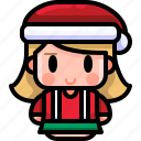 avatar, boy, christmas, girl, hat, winter, young icon