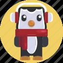 animal, avatars, christmas, cold, cute, holiday, penguin