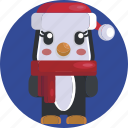 animal, avatars, christmas, cute, festive, penguin, sweet