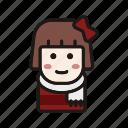 avatar, christmas, fashion, girl, scarf, winter, xmas icon