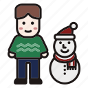 christmas, holiday, new year, snow, snowman, winter, xmas icon