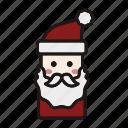 christmas, holiday, santa, santa cluas, santa hat, winter, xmas icon