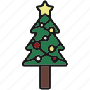 christmas, christmas tree, decoration, eve, holiday, winter, xmas icon