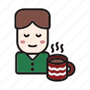 christmas, coffee, drink, holiday, hot tea, tea, winter icon