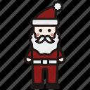 christmas, holiday, santa, santa avatar, santa claus, winter, xmas icon