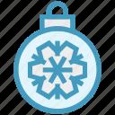 ball, bauble, christmas, christmas ball, decoration, holidays, snowflake icon
