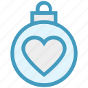 ball, bauble, christmas, christmas ball, decoration, heart, holidays icon
