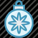 ball, bauble, christmas, christmas ball, decoration, flower, holidays icon