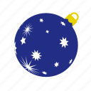 ball, blue, christmas, stars, xmas, xmasballs icon