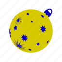 ball, christmas, christmasballs, gold, stars, xmasballs icon
