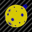ball, christmas, christmasballs, gold, stars, xmasballs icon
