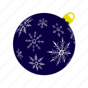 ball, darkblue, mas, snowflakes, x, xmas, xmasballs icon