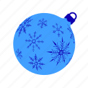 ball, christmas, lightblue, mas, snowflakes, x, xmasballs icon