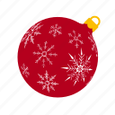 ball, mas, red, snowflakes, x, xmas, xmasballs icon