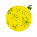 ball, mas, snowflakes, x, xmas, xmasballs, yellow icon
