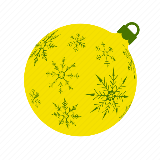 ball, mas, snowflakes, x, xmas, xmasballs, yellow icon