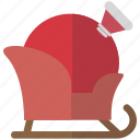 bag, christmas, gifts, santa, sleigh icon