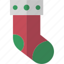 chimney, christmas, decor, gift, sock icon