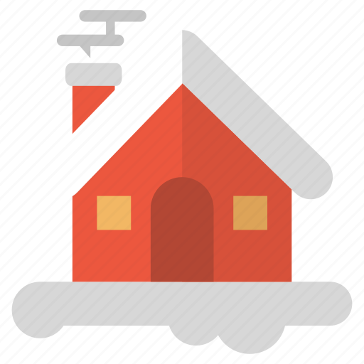 chill, chimney, cozy, home, house icon