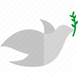 dove, freedom, olive, peace, pigeon icon