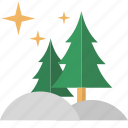 calm, peace, pine, silent, trees icon
