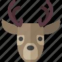christmas, deer, hunt, reindeer, winter