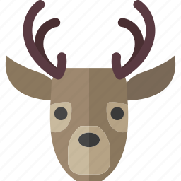 christmas, deer, hunt, reindeer, winter icon