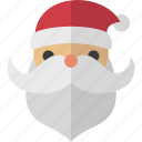 beard, jolly, nick, saint, santa icon