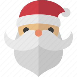 beard, jolly, nick, saint, santa icon