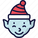 character, christmas, december, elf, holidays icon