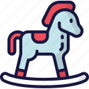 christmas, december, gift, holidays, horse, rocking icon