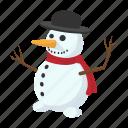cartoon, celebration, cold, cute, hat, holiday, snowman