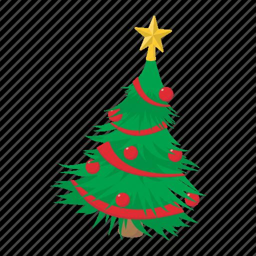 cartoon, fir, fir-tree, pine, spruce, tree, xmas icon