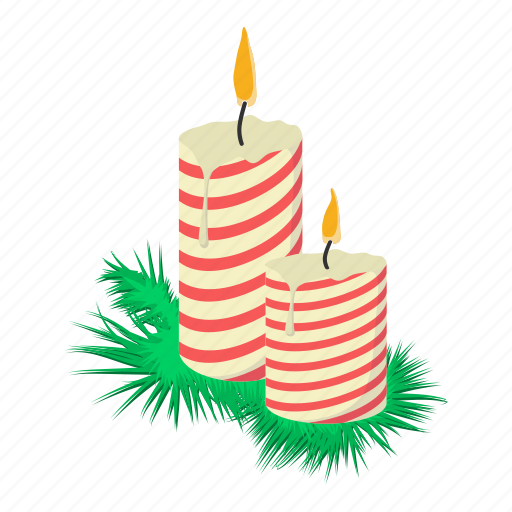 candle, cartoon, decoration, glow, lob, suppository, tree icon