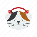 animal, cat, christmas, earmuffs, pet, xmas icon