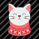 animal, cat, christmas, pet, santa, xmas icon