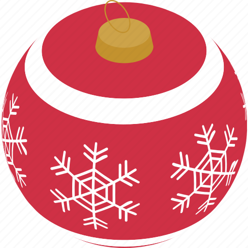 Bauble, christmas, decoration, snowflake, celebration, holiday, snow icon - Download on Iconfinder