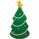 christmas, christmastree, decoration, tree, winter, holiday, plant icon