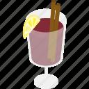 alcohol, drink, glass, mulledwine, wine icon