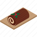 cake, dessert, food, log, sweet, yulelog icon