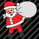 avatar, character, christmas, gift, santa claus, xmas icon