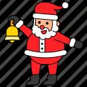 avatar, bell, character, christmas, santa claus, xmas icon
