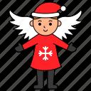 angel, avatar, character, christmas, xmas icon