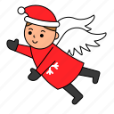 angel, avatar, character, christmas, xmas icon