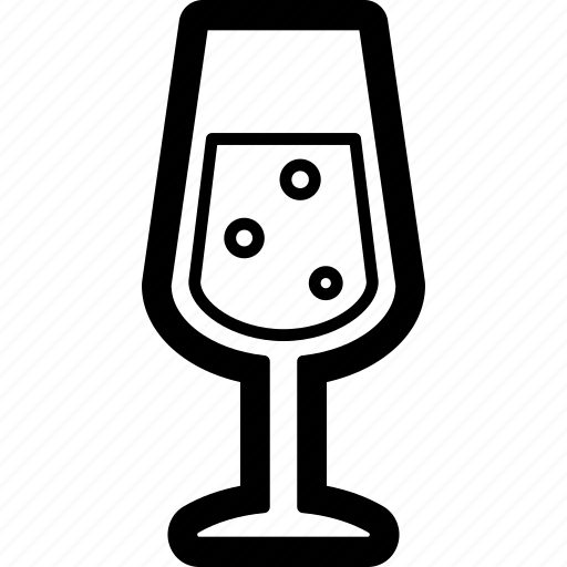 beverage, champagne, drink, glass icon