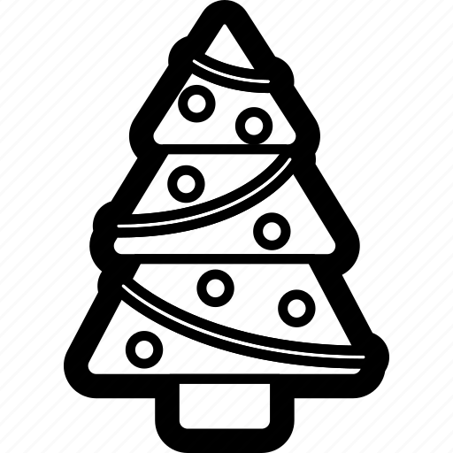 christmas, holiday, pine, tree, winter icon