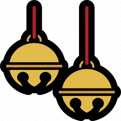 bells, christmas, holiday, jingle, ribbon icon