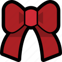 bow, red, ribbon icon