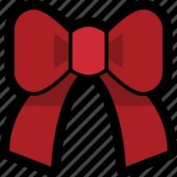 bow, christmas icon