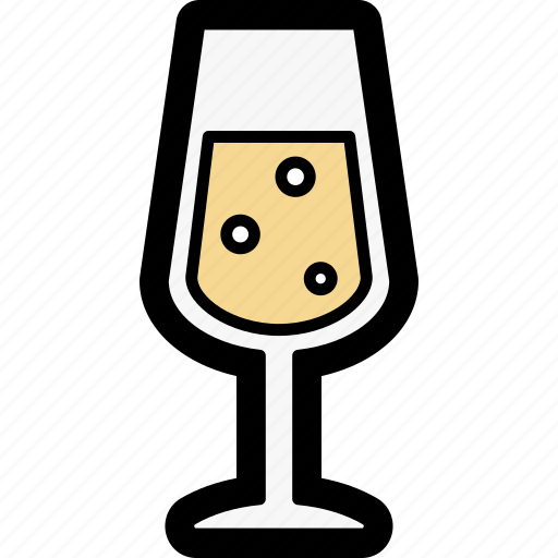 champagne, glass icon